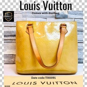 Louis Vuitton Shoulder bag Houston yellow vernis
